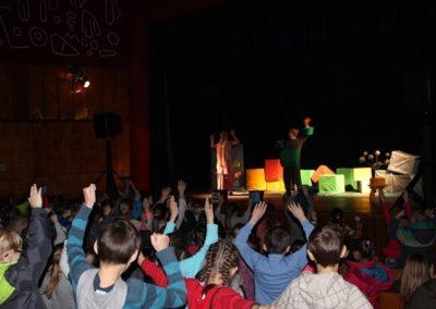 dzieciaki aktywnie uczestniczą w przedstawieniu