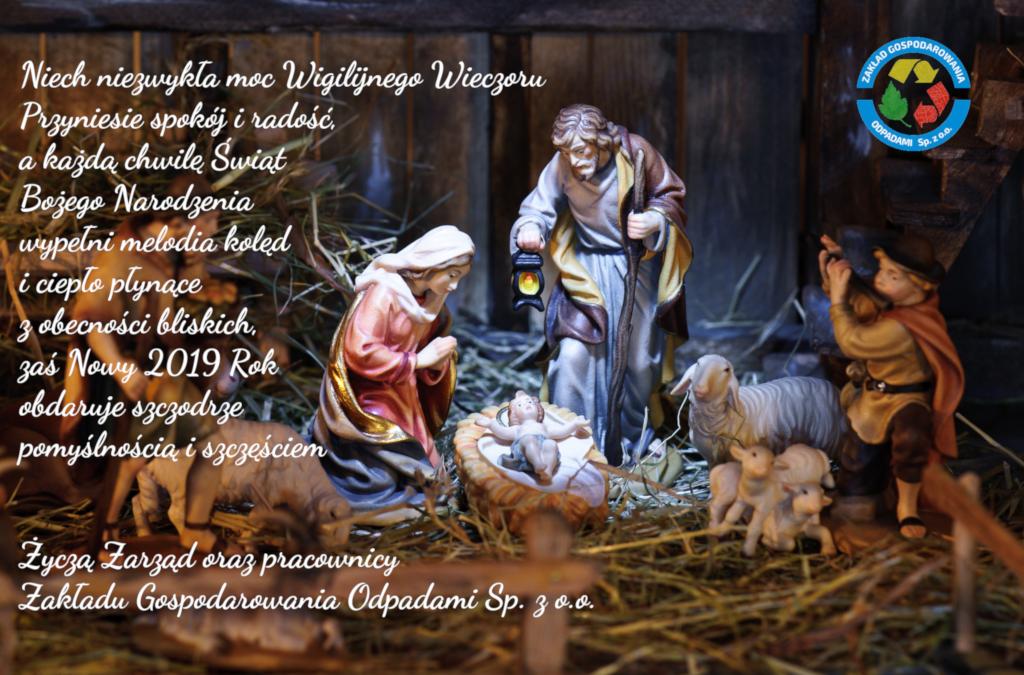 kartka bożonarodzeniowa z życzeniami