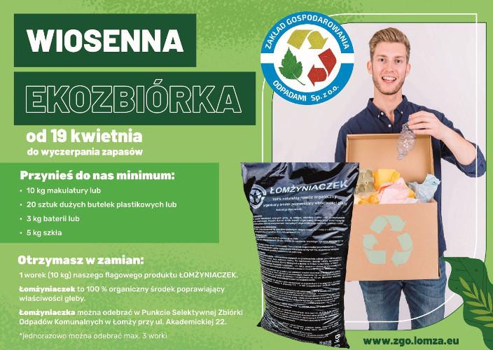 """plakat """"Wiosenna Ekozbiórka"""""""